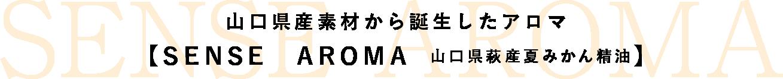 山口県産素材から誕生したアロマ【SENSE AROMA 山口県萩産夏みかん精油】